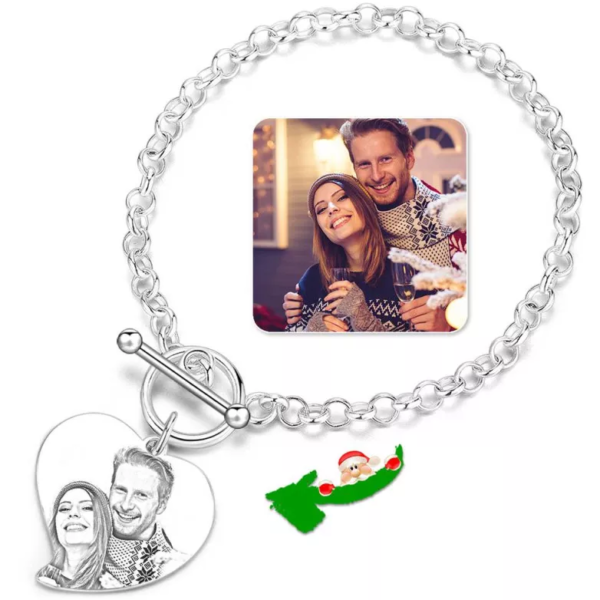 1 600x600 - Photo Engraved Tag Bracelet With Engraving