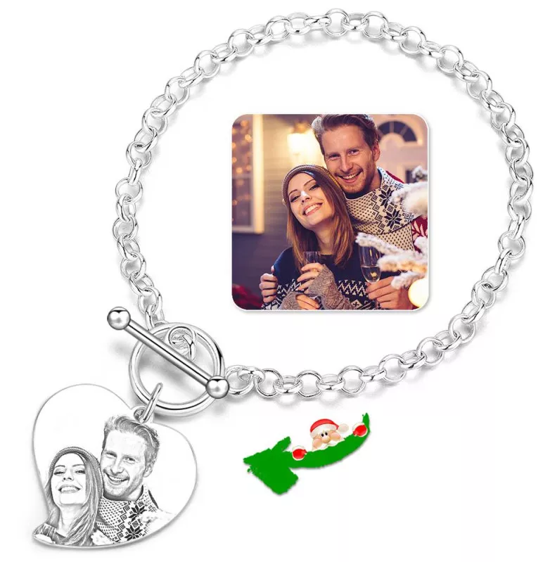 1 - Photo Engraved Tag Bracelet With Engraving