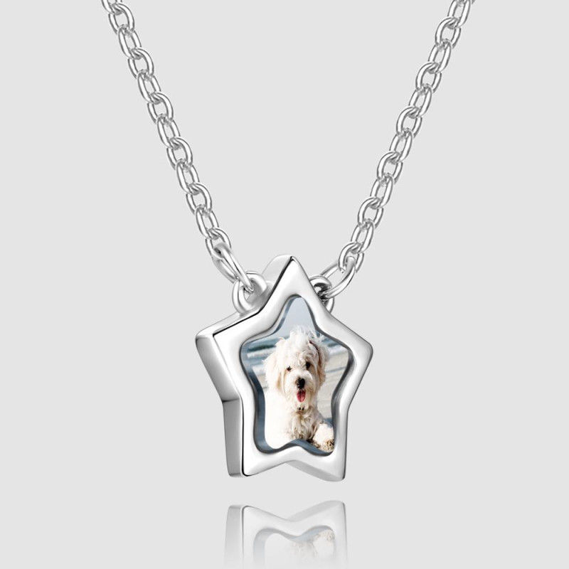 1022336999964 - Star Photo Necklace Silver