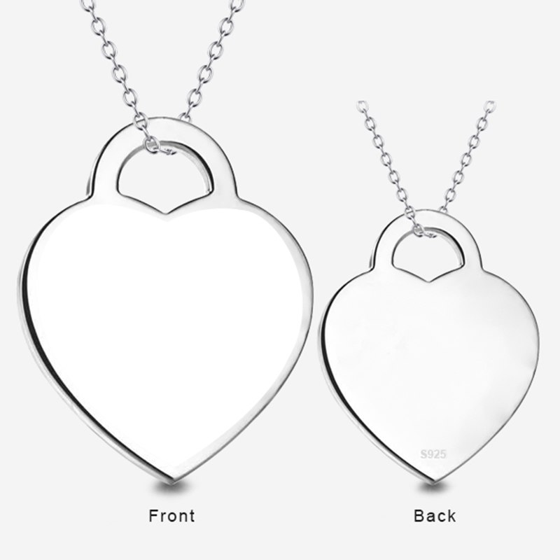 10794310602973 1 - Heart Shape Photo Engraving Necklace in Sterling Silver