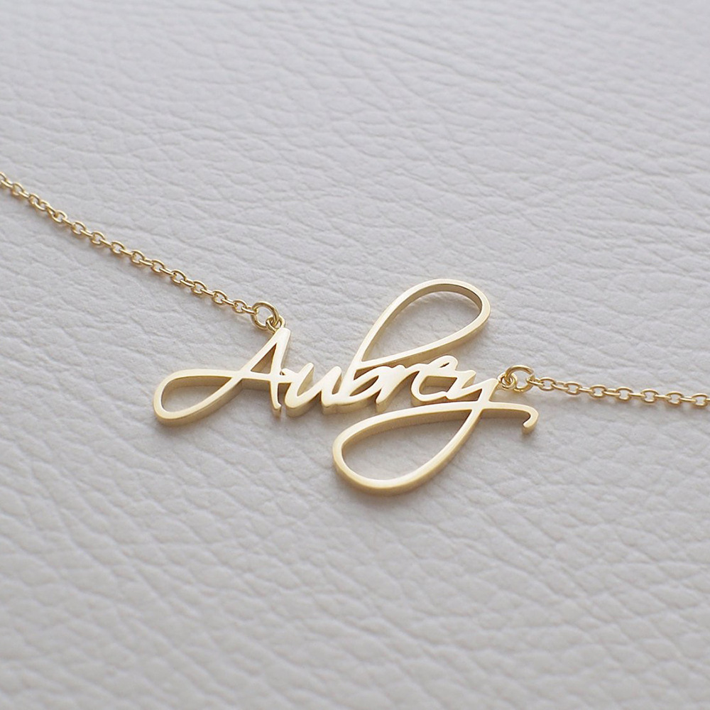 11813305964046 - Custom name necklace multi colors