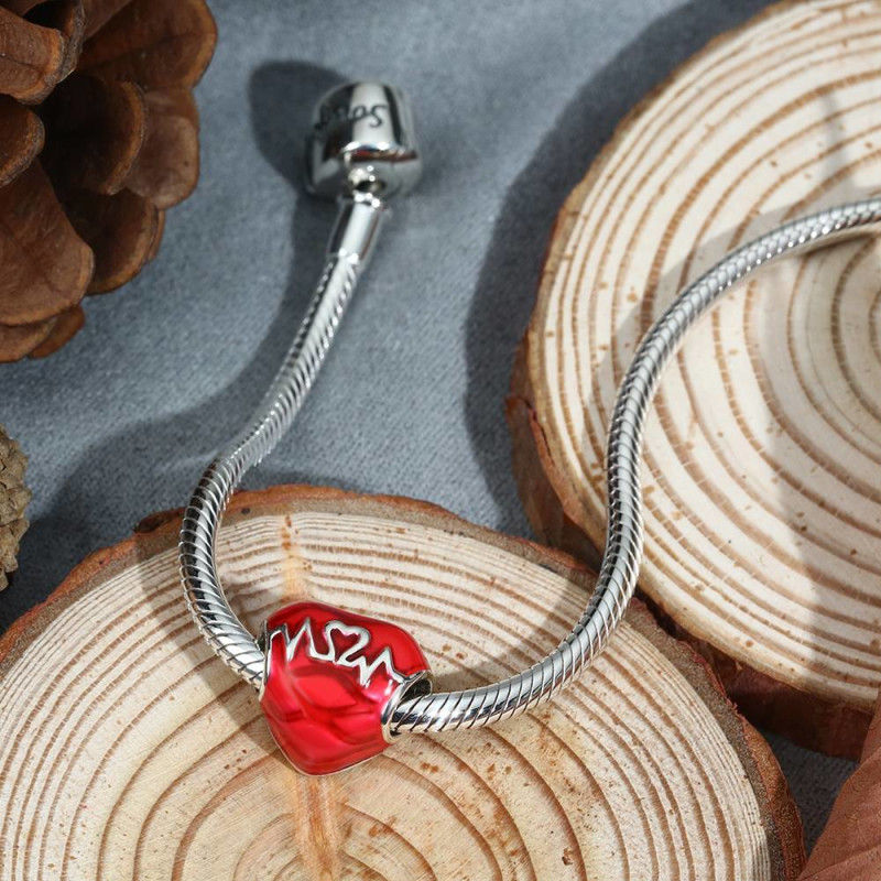 12261833109090 - Beating Heart Photo Charm Silver