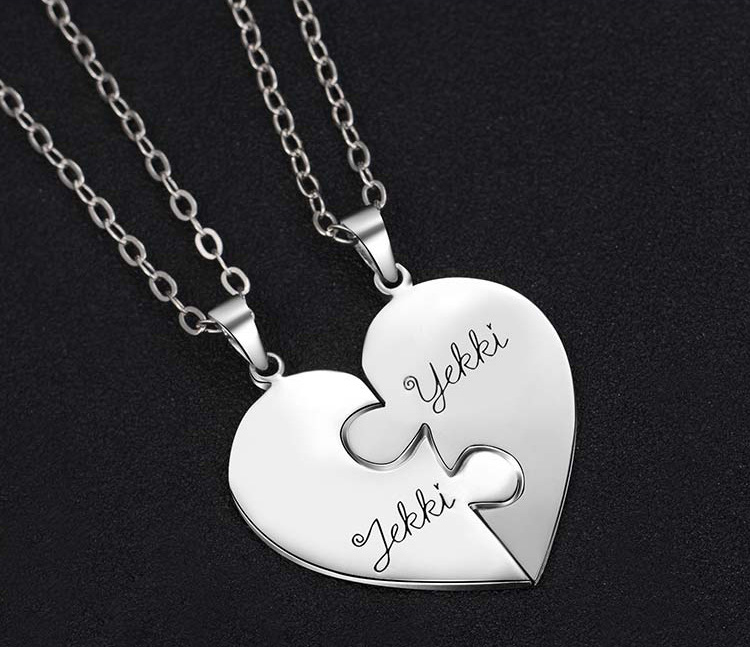 1375676161131 - Personalized Puzzle Up To 7 Pieces Necklace