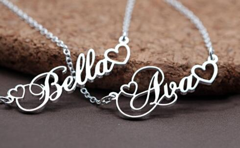 1392197235615 - Name With Double Heart Necklace