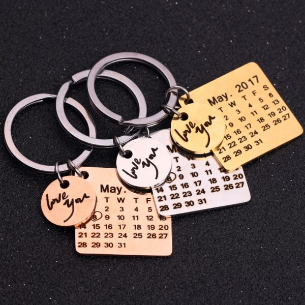 140308266030 600x600 - Personalized Calendar Key Chain