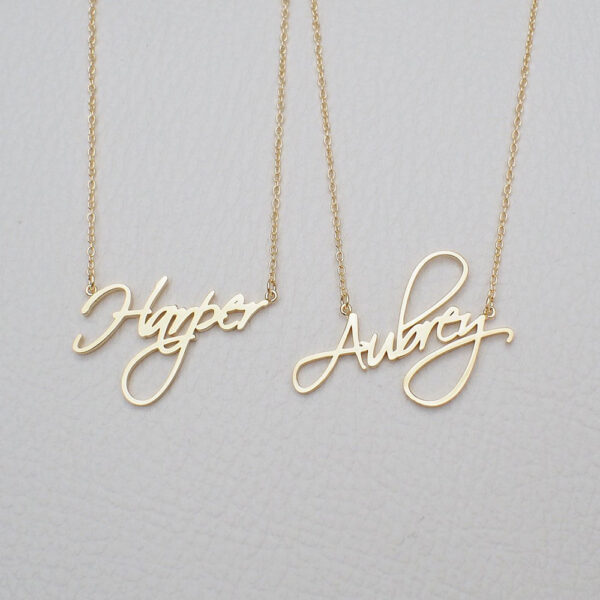 141989205776 600x600 - Custom name necklace multi colors