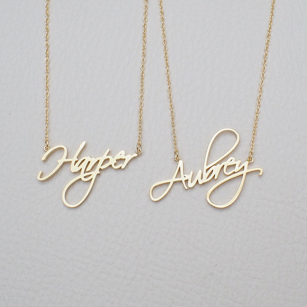 141989205776 - Custom name necklace multi colors