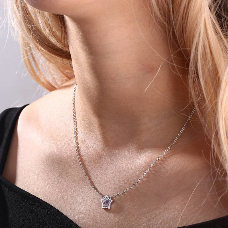 1535797006152 - Star Photo Necklace Silver