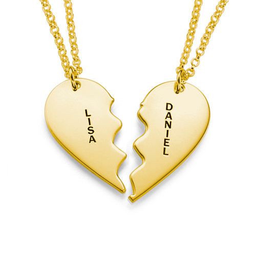 1571182839201 - Broken Heart Necklace for Couples in Gold Plated