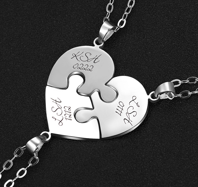 1766285635908 - Personalized Puzzle Up To 7 Pieces Necklace