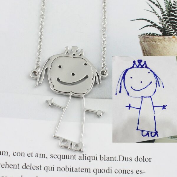 1846336783672 600x600 - Custom Children's Painting Necklace, Keychain and Bracelet