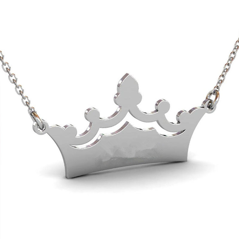 1995242586617 - Crown Custom Name Necklace