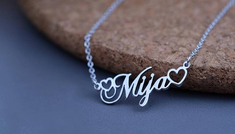 2069461199825 - Name With Double Heart Necklace
