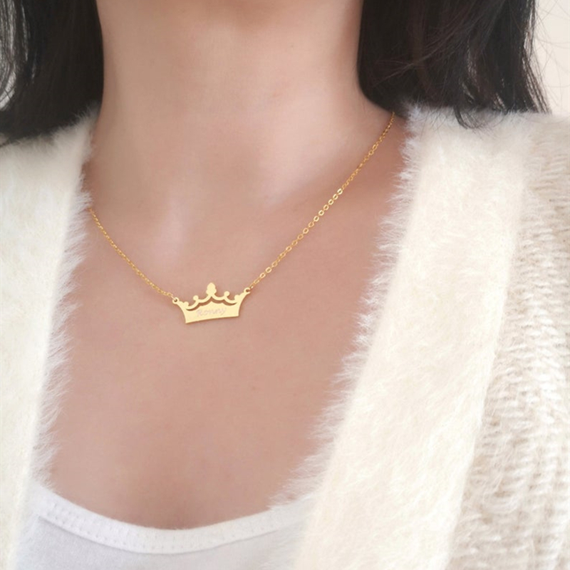 2143291179776 - Crown Custom Name Necklace