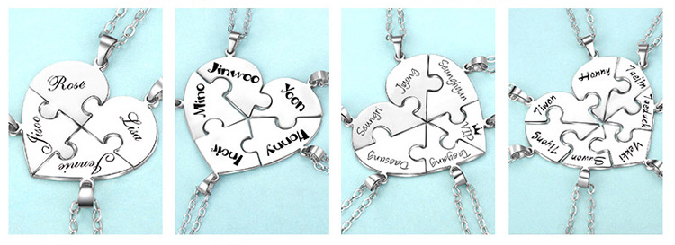 2223510243036 - Personalized Puzzle Up To 7 Pieces Necklace