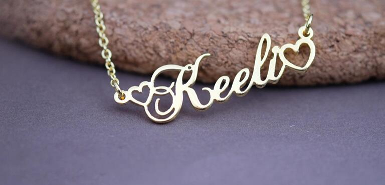 236486491158 - Name With Double Heart Necklace