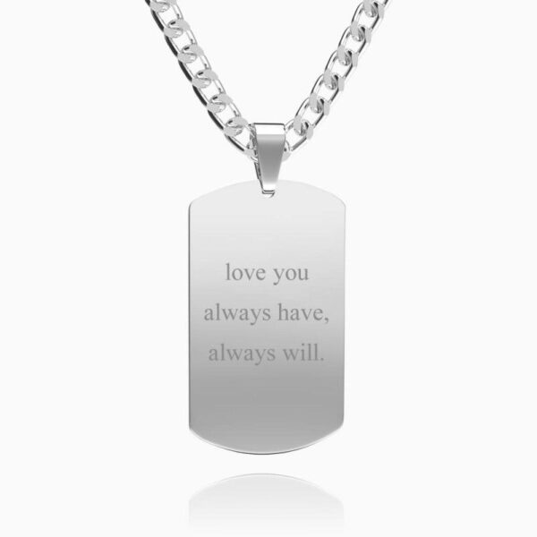 23980365017770 600x600 - Mens Necklace, Engraved Necklace, Personalized Photo Necklace Photo Dog Tag