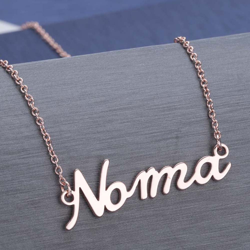 245239683678 - Custom name necklace multi colors