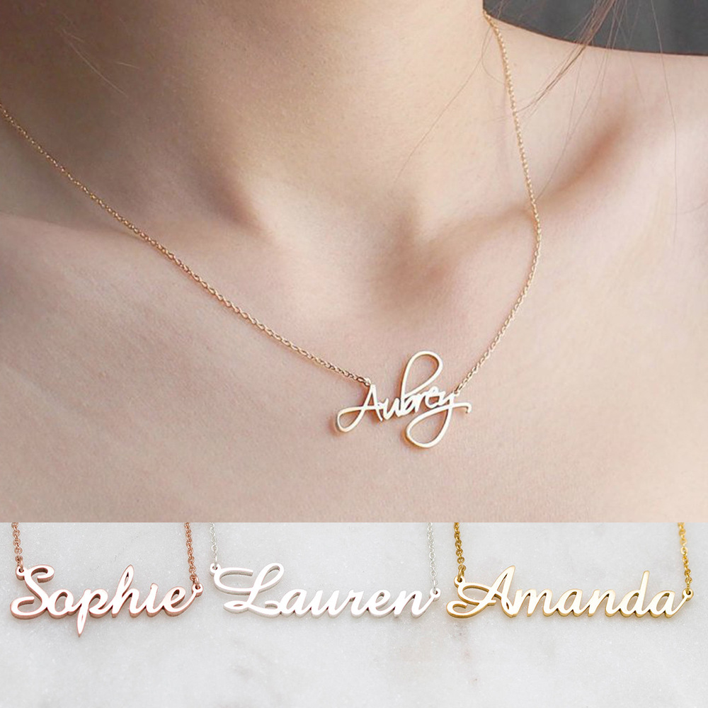 2919451695947 - Custom name necklace multi colors