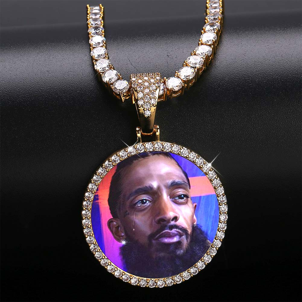 3042635703518 - SMALL CUSTOM CIRCULAR PHOTO PENDANT