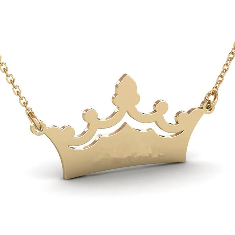 4343756258617 - Crown Custom Name Necklace