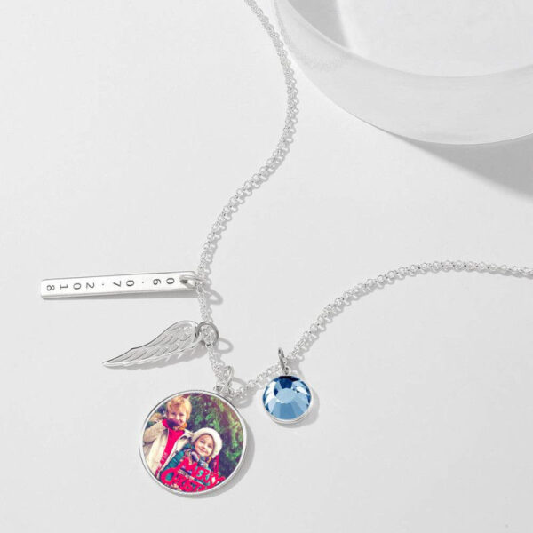 5068146918996 1 600x600 - Women's Photo Engraved Tag Necklace With Engraving Silver