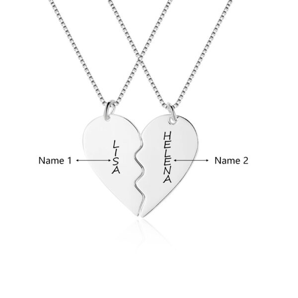 517532941048 600x600 - Broken Heart Necklace for Couples in Gold Plated
