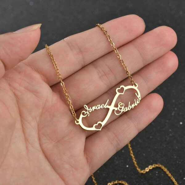 591323241372 1 600x600 - Crescent Heart Name Necklace