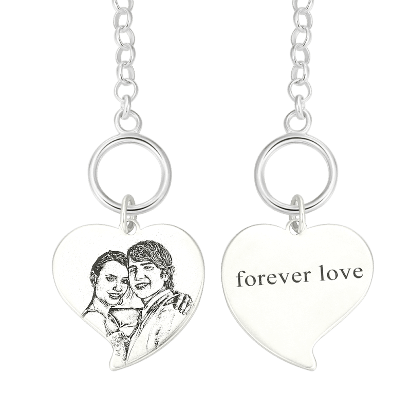 605316616575 3 - Photo Engraved Tag Bracelet With Engraving