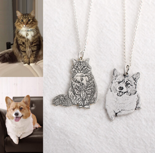 631295143949 - Engraved Pet Necklace 925 Silver