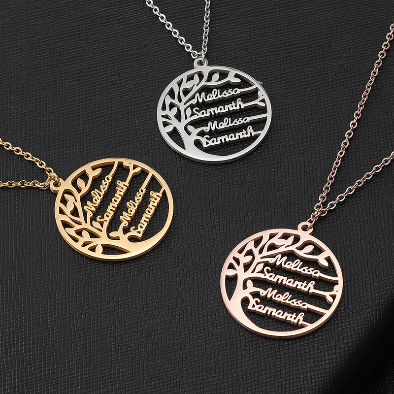 6905751927998 - Personalized Family Tree of Life Necklace
