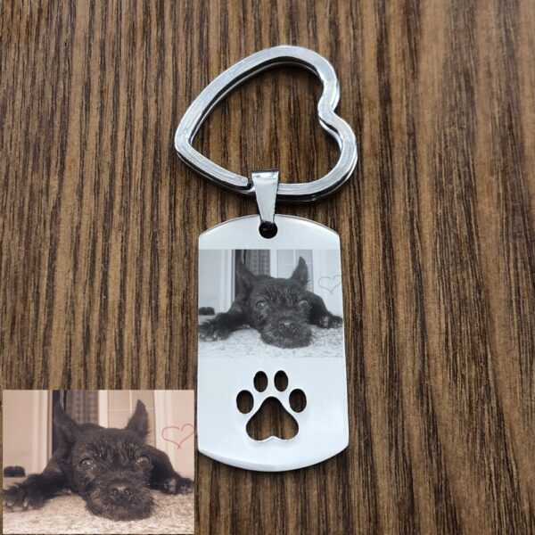 815138988112 600x600 - Personalized Photo Keychain With Pet Tags