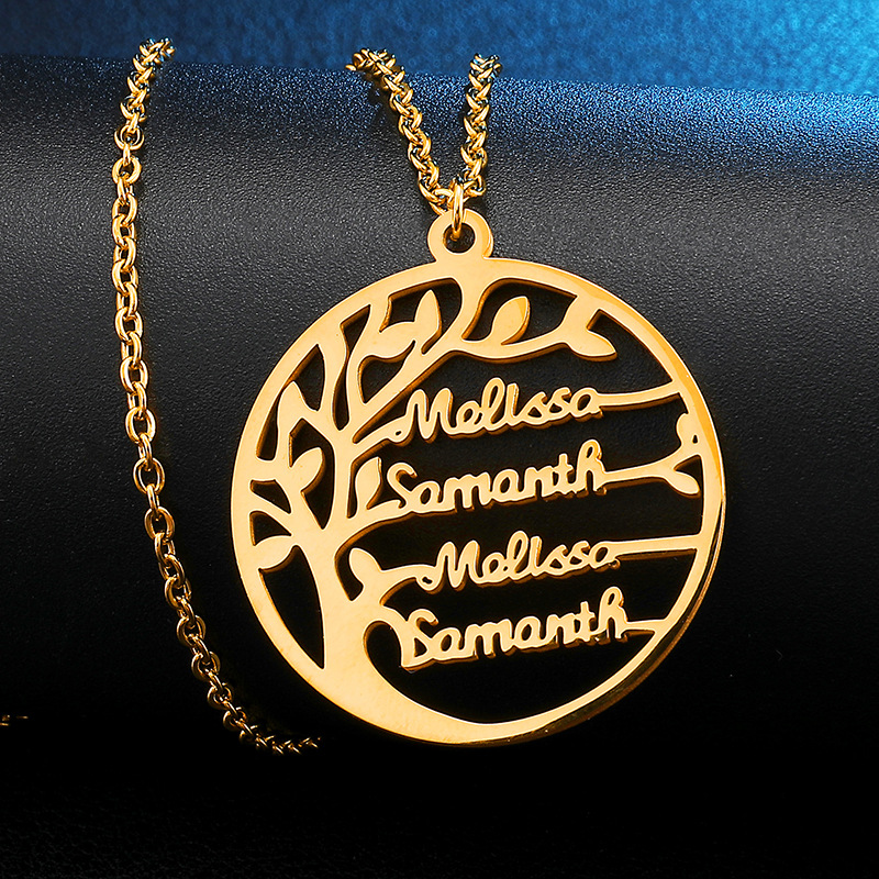 993679605897 - Personalized Family Tree of Life Necklace