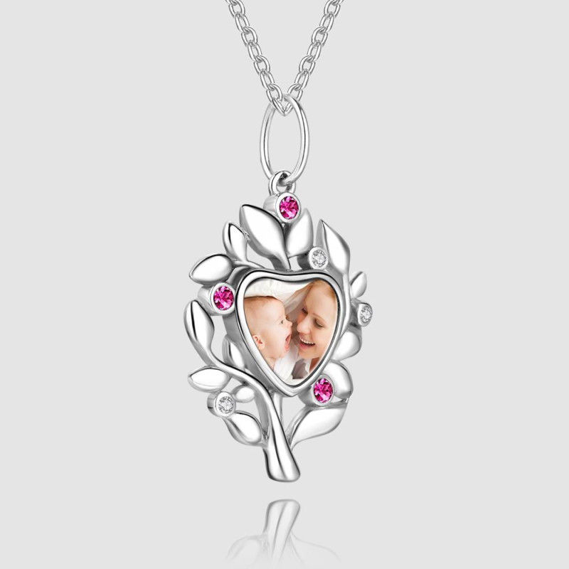 99820045341 - Family Tree Photo Necklace Silver