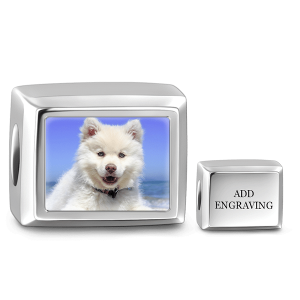 C032 4 600x600 - Cuboid Shaped Engraved Photo Charm Silver