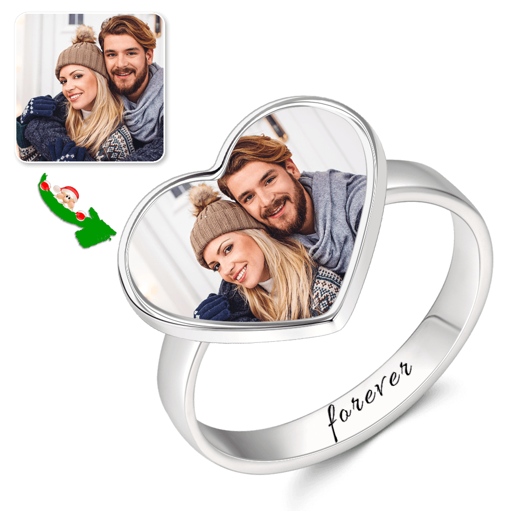 C273 eb421665 580c 40bf 8fa5 15dfac9f3208 1000x - Women's Heart Photo Ring With Engraving Silver For Her
