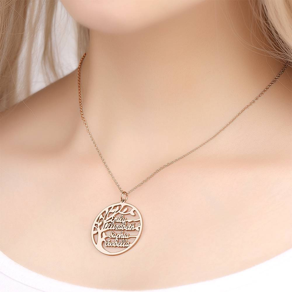 Family Tree Name Necklace - Personalized Family Tree of Life Necklace