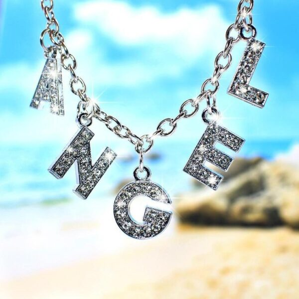 """Harajuku Letter LOVE Crystal Punk Choker Necklace Women Jewelry Couple Gift Necklace ANGEL BABY Chok 1 740x 600x600 - """"Bling Beach"""" Angel Letter Necklace-Custom letters"""