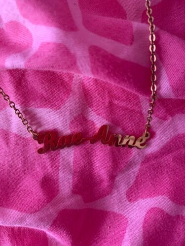 Custom Name Necklace photo review