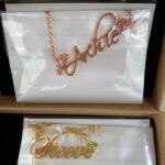 Custom name necklace multi colors photo review