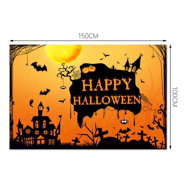102206833527485 600x600 - Bat Haunted House Theme Background Wall