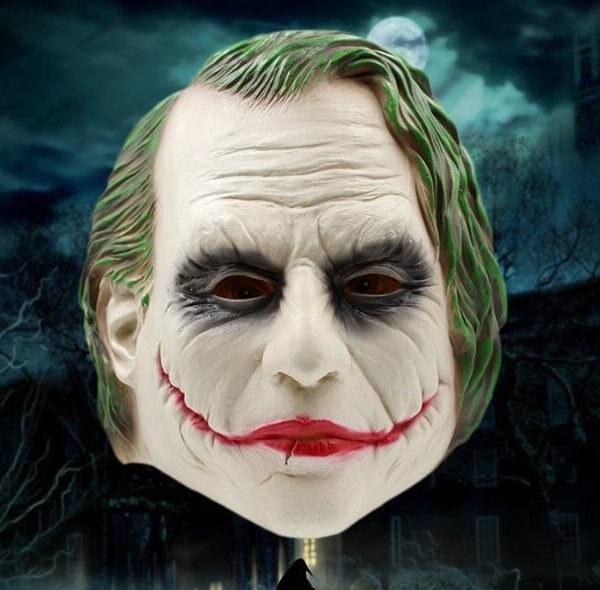 1301298442748 600x590 - Halloween joker clown mask latex head mask of dark knight movie mask