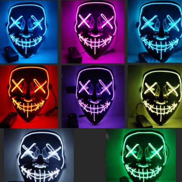 1958005385335 600x600 - Black V Halloween Horror Glowing Mask