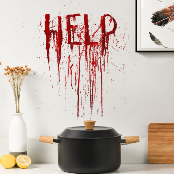 "244449823523 600x600 - ""HELP"" Wall Stickers for Halloween 30X30 cm"