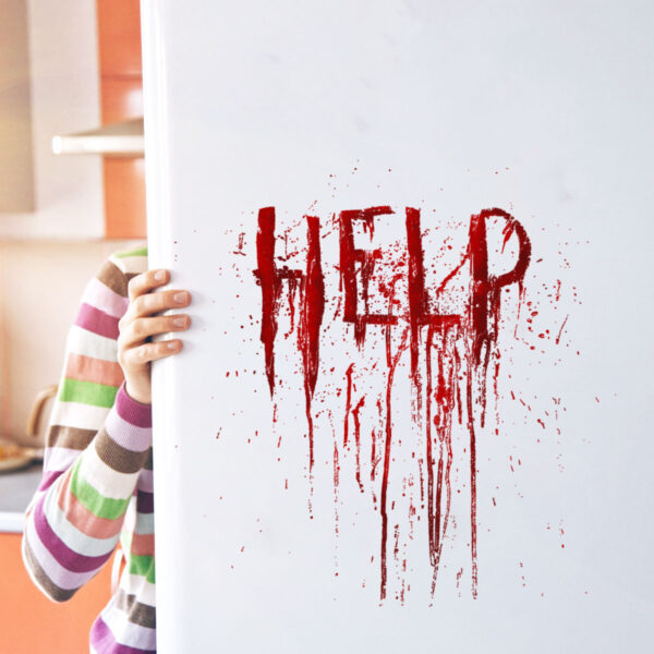 "90510064071 600x600 - ""HELP"" Wall Stickers for Halloween 30X30 cm"