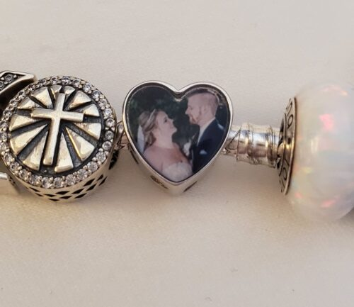 Heart Engraved Photo Charm Silver photo review