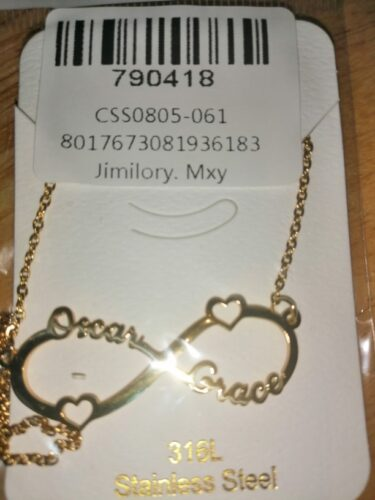 Infinity Custom Name Necklace photo review