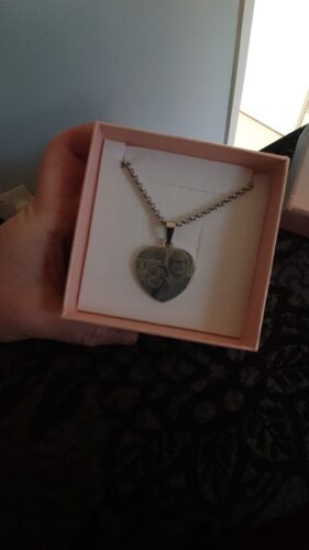 Heart Shape Photo Engraving Necklace in Sterling Silver photo review