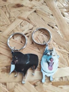 Custom Pet Photo Keychain photo review